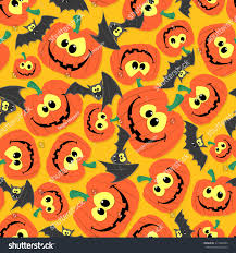 halloween background funny funny seamless pattern background halloween themes stock vector