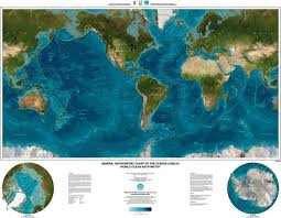 world map in gebco world map