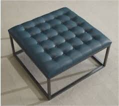 leather and metal ottoman square coffee table oversized ottoman tufted upholstered teal