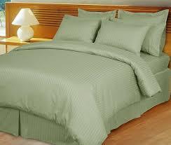 Down Alternative Comforter Sets Egyptian Cotton Sage Mint Green Stripe Down Alternative Comforter Set