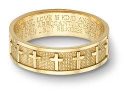 bible verse rings women s 14k yellow gold christian cross bible verse wedding ring