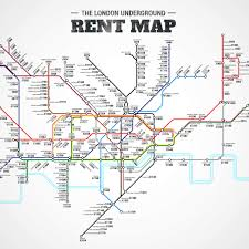 the london underground rent map where you can u0027t afford to live