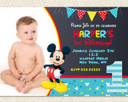 mickey mouse 1st birthday mickey mouse birthday invitations mickey mouse