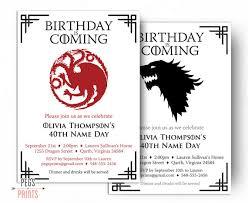 dragon birthday invitation wolf birthday invitation game of