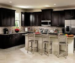 sarsaparilla cabinets in casual kitchen aristokraft