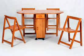 Folding Dining Table And Chairs Set Dining Room Fantastic Space Saving Dining Tables With Wheels And