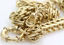 large gold link necklace images Gold chain link necklace 14k yellow white italy vintage jpg