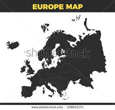 map without country names black europe map design vector illustration stock vector 439645174