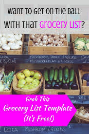 Grocery Shopping List Template Best 25 Grocery List Templates Ideas On Pinterest Free