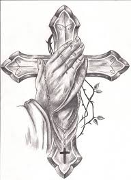 praying and cross designs best design