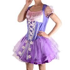 Rapunzel Halloween Costumes Aliexpress Buy Tangled Rapunzel Costume Women Purple