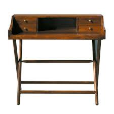 Kleine Schreibtische Aus Holz Schreibtisch Aus Massivem Teakholz B 102 Cm Gebeizt Explorateur