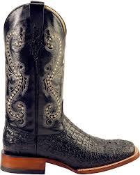 ferrini s boots size 11 ferrini black caiman croc print cowboy boots wide square toe