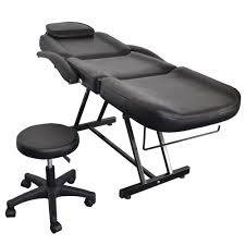 salon spa black massage bed tattoo chair adjustable table