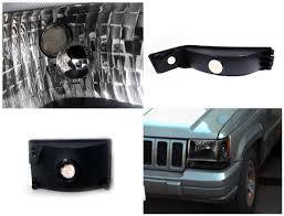 96 jeep laredo 96 jeep grand headlights bumper lens black