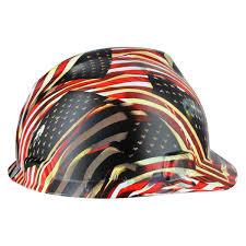 American Flag Price Rugged Blue Custom Hydrographic American Flag Hard Hat