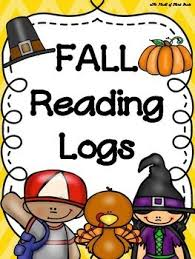 fall reading logs pack back to school thanksgiving