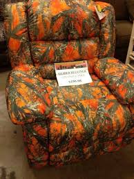 orange camo recliner furniture pinterest recliner camo and