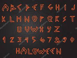 scary handwritten english alphabet font halloween style u2014 stock