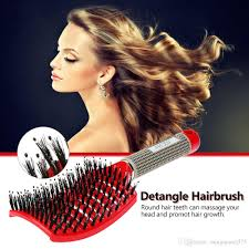 hair growth with wet set hairstyle abody hair scalp massage comb hairbrush bristle nylon women wet