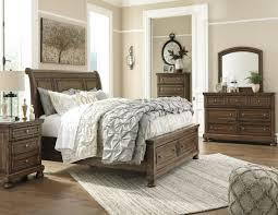 Porter King Storage Bedroom Set Porter Flynnter Medium Brown Sleigh Storage Bedroom Set