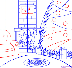 how to draw a christmas scene step by step christmas stuff