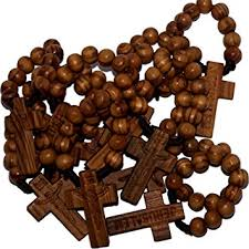wooden rosaries 10 finger wooden rosaries from bethlehem with soil and