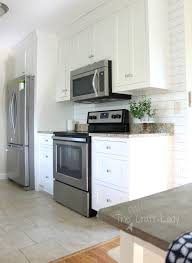 White Backsplash For Kitchen by White Subway Tile Temporary Backsplash The Full Tutorial The