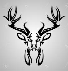 the gallery for tribal deer design stylized designs for