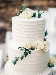 wedding cake greenery simple white cake picture of simple white cake decorated with