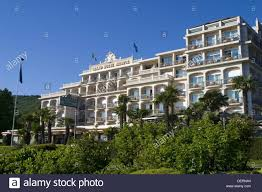 grand hotel bristol stresa lake maggiore italy stock photo