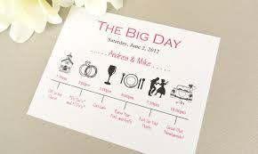 wedding invitations timeline wedding day timeline schedule of events invitation card timeline