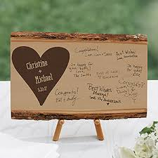 wedding guest books personalized basswood plank wood wedding guest book small