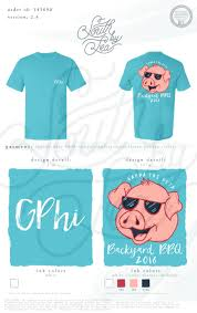 gamma phi beta backyard bbq barbecue barbeque cartoon pig