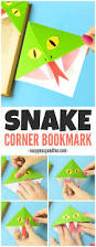 snake corner bookmarks easy peasy and fun