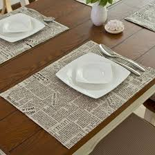 table mats and coasters 2018 dining table mat coasters heat insulation newpaper mat linen