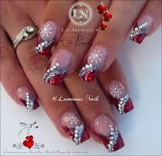 glitter christmas nail designs