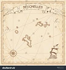 Map Of Treasure Island Florida by Seychelles Old Treasure Map Sepia Engraved Stock Vector 494100175
