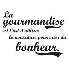 stikers cuisine stickers original citation sur gourmandise et bonheur pour cuisine