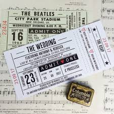 ticket wedding invitations concert ticket inspired wedding invitations me do designs