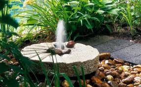 Rock Fountains For Garden Backyard Landscape Ideas With Gardening Flower And