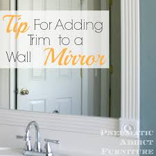 Trim Around Bathroom Mirror Putting Trim Around Bathroom Mirror Bathroom Mirrors