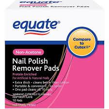 equate non acetone nail polish remover pads 10 ct walmart com