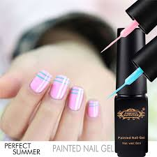 perfect summer painted dotting nail gel drawing manicure uv soak