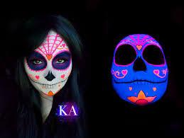 uv and black light sugar skull designs skullsproject