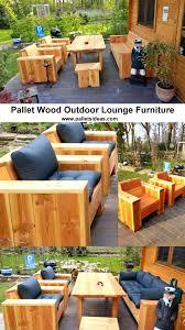 Outdoor Patio Pallet Furniture - pallet wood outdoor lounge furniture pallet ideas recycled