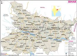 bihar map state ditricts information and facts