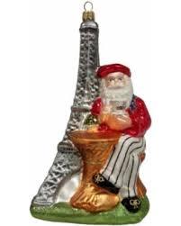amazing deal santa with eiffel tower glass