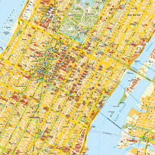 New York City Map Of Manhattan by Street Map New York City Nyc Usa Maps And Directions At Map