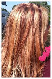 pictures of blonde hair with highlights and lowlights hair images of red hair with blonde highlights unique beautiful